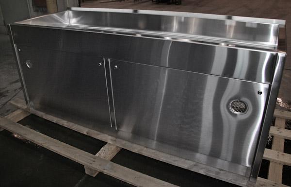 lavabo avec espace de rangement palardy acier inoxydable. Black Bedroom Furniture Sets. Home Design Ideas